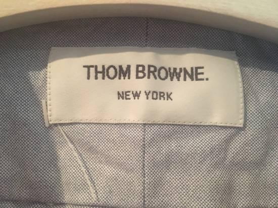Thom Browne Light Blue Oxford Shirt w/Signature Grosgrain Placket Size US S / EU 44-46 / 1 - 2