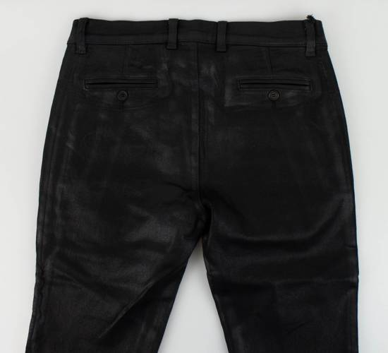 Balmain Black Waxed Cotton Denim Skinny Jeans Size US 31 - 3