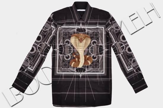 Givenchy 1050$ Black Cotton Geometric Cobra Print Shirt sz 38 Size US S / EU 44-46 / 1