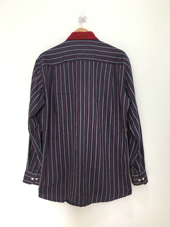Givenchy Gentleman Givenchy Indigo Red Stripes Casual Shirt Made in Italy Size US M / EU 48-50 / 2 - 5