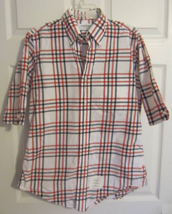 Thom Browne Classic Large Check Plaid Oxford Shirt Size US L / EU 52-54 / 3 - 1