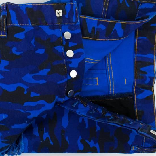 Balmain Blue Camouflage Denim Distressed Jeans Pants Size US 30 / EU 46 - 1