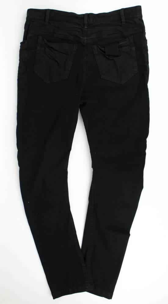 Julius 7 Black Cotton Blend 'Stretch Denim' Jeans Pants Size 4/L Size US 36 / EU 52 - 3