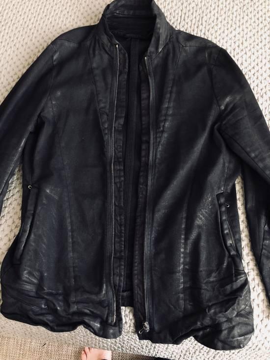 Julius MEN'S BLACK WAXED DENIM JACKET Size US XXL / EU 58 / 5 - 12