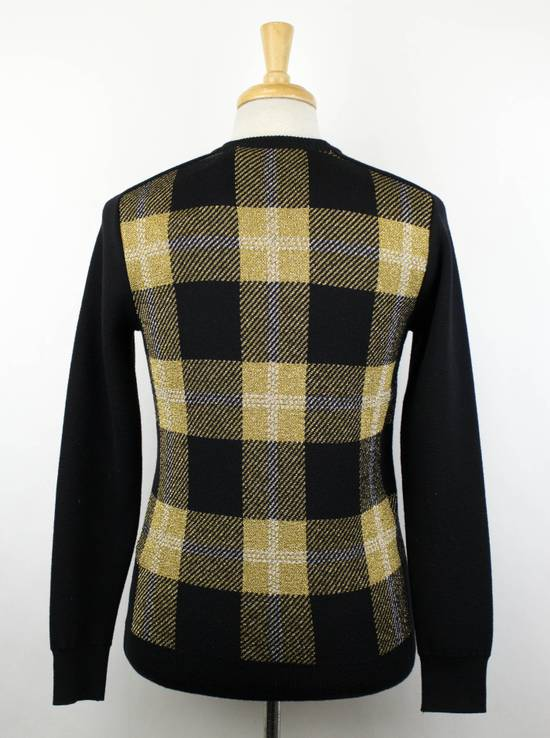 Balmain Black Plaid Wool Blend Embroidered Crewneck Sweater Size Small Size US S / EU 44-46 / 1 - 2