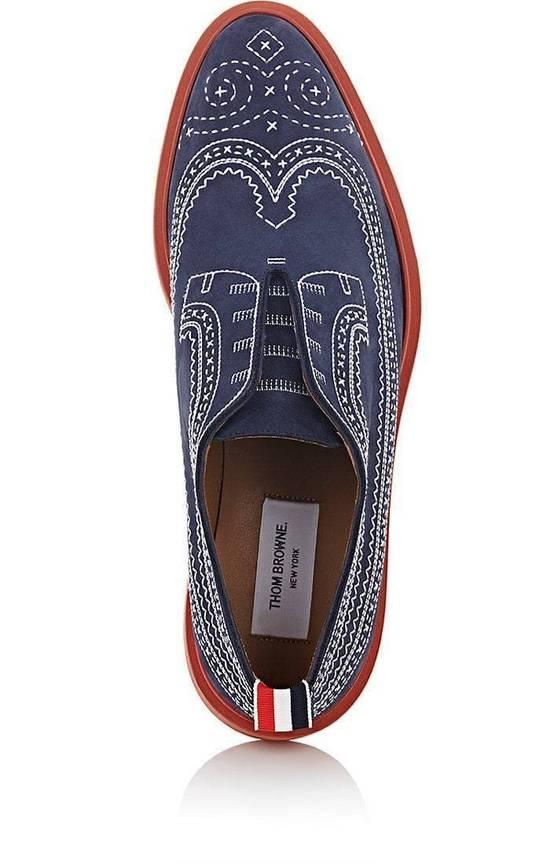 Thom Browne Stitched Nubuck Laceless Balmorals Size US 7 / EU 40 - 1