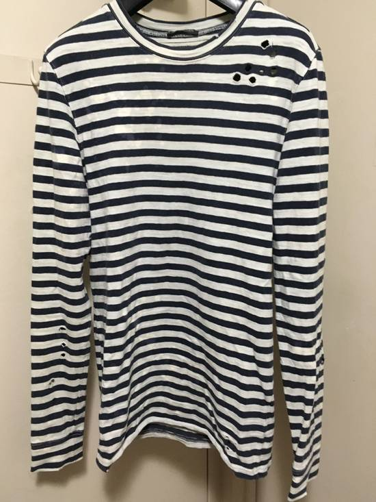 Balmain AW10 Destroyed Breton Shirt Size US XS / EU 42 / 0