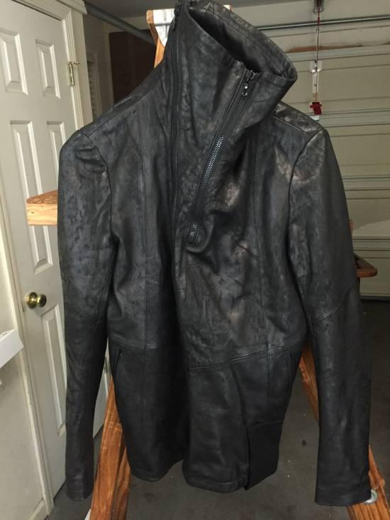 Julius SS17 Treated Lambskin Funnel Neck Jacket Size US L / EU 52-54 / 3 - 1