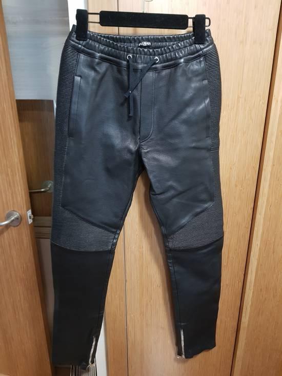 Balmain 14ss Nappa Leather Joggers Pants Size US 30 / EU 46