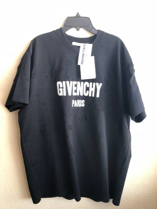 Givenchy Givenchy Distressed Black Tee Size US S / EU 44-46 / 1