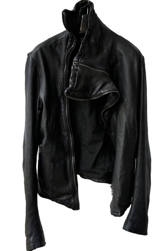 Julius JULIUS _7 ma high neck black lamb biker jacket slim fit Japan Size US S / EU 44-46 / 1 - 7