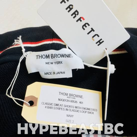 Thom Browne THOM BROWNE Classic Sweat Shorts 4-Bar Stripe Logo, TB Size 2, Navy, NWT, NO DROP ! Size US 32 / EU 48 - 8