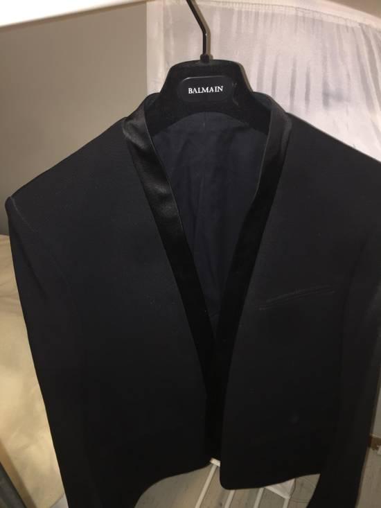 Balmain Black Tuxedo Blazer Size 50S - 1