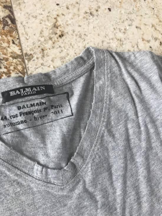 Balmain V Neck Tee, SS Grey Size US L / EU 52-54 / 3 - 3