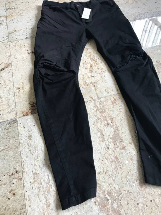 Julius 2-3-4 / 577PAM13 Knee Slit Distressed 11.5 Oz Denim In Black Size US 34 / EU 50 - 1