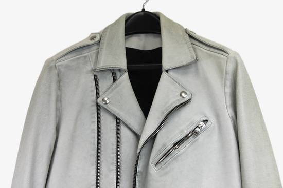 Balmain $4k Balmain White Leather Perfecto Biker Jacket 48 46 Size US M / EU 48-50 / 2