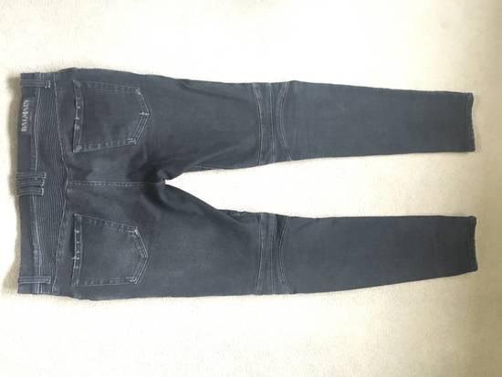 Balmain Black Skinny Biker Jeans Size US 32 / EU 48 - 3