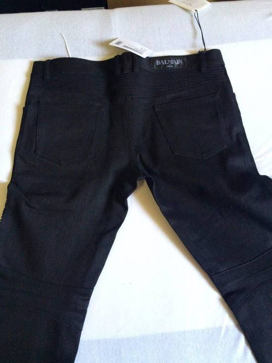 Balmain Balmain Authentic $990 Black Biker Jeans Size 36 Skinny Fit Brand New With Tags Size US 36 / EU 52 - 4
