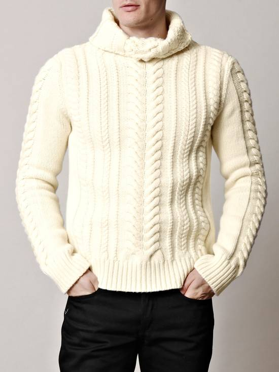 Balmain Cable Knit Sweater Merino Size US L / EU 52-54 / 3 - 6