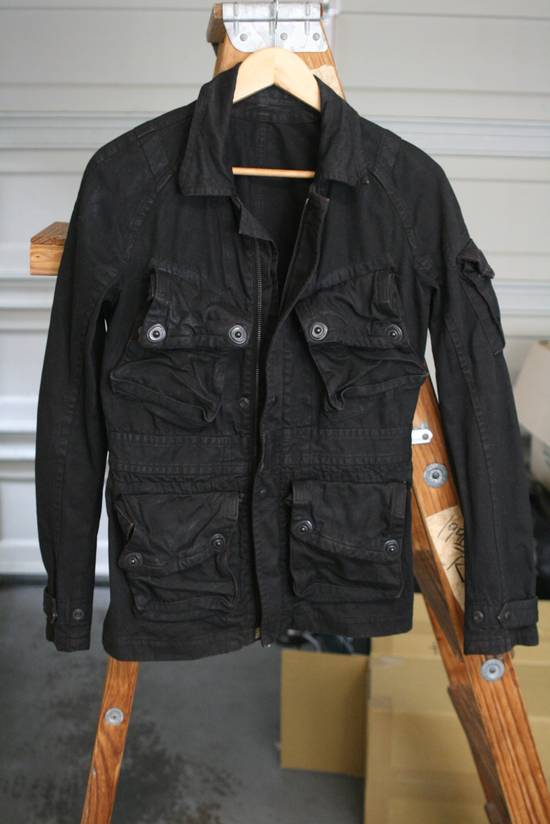 Julius Coated Black Gasmask Cargo Jacket Size US S / EU 44-46 / 1