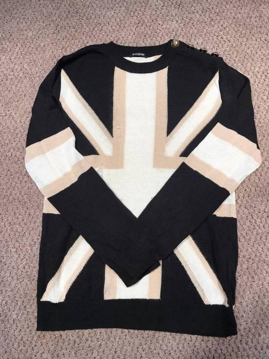 Balmain Union Jack Sweater beige/blk Size US XL / EU 56 / 4 - 3