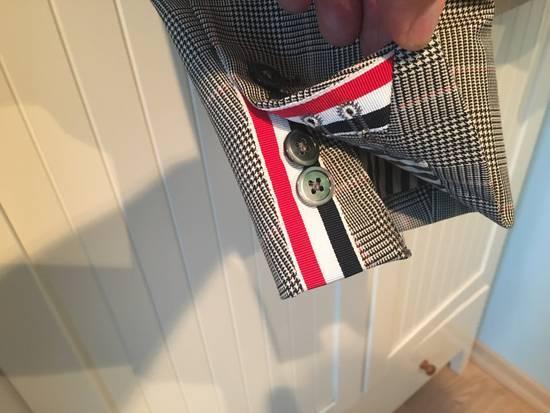 Thom Browne Men's Grey Black & White Prince Of Wales Wool Jacket Size US M / EU 48-50 / 2 - 4
