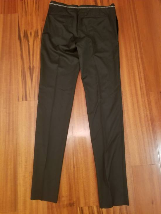 Givenchy Givenchy Black Wool Dress Tailored Pants Zip Detail Zipper Size 52 Brand New Trousers Size 52R - 2
