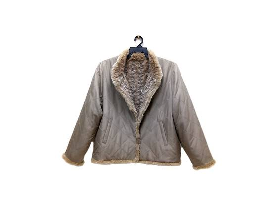 Balmain 🔥FINALDROP♨Reversible Balmain Paris Fur and Silk Jacket RARE Design Size US L / EU 52-54 / 3 - 5