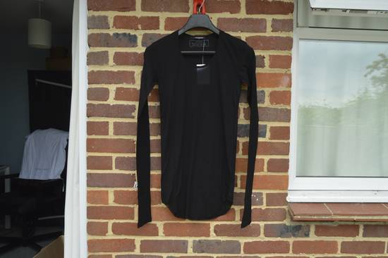 Balmain Black Ribbed Long Sleeve T-shirt Size US M / EU 48-50 / 2