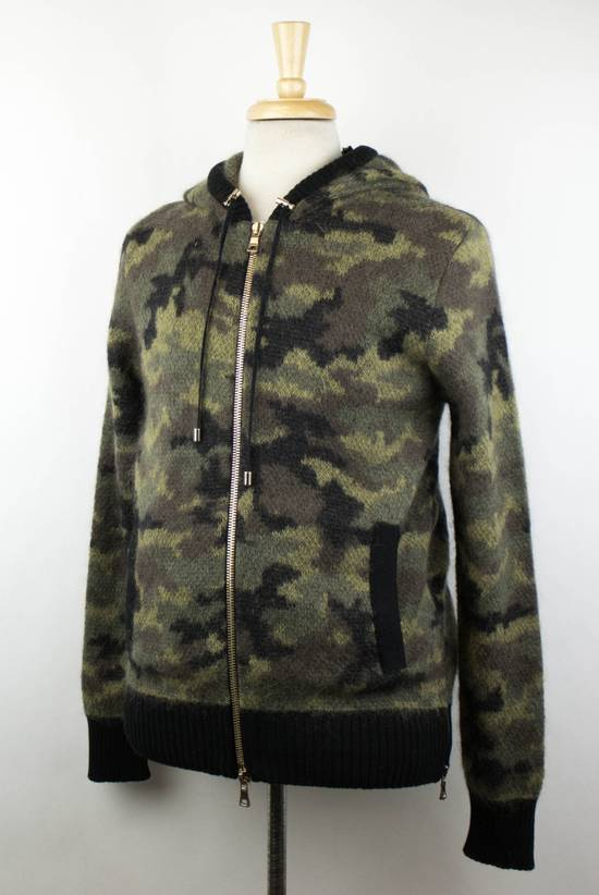 Balmain Camouflage Wool Blend Zip Up Hoodie Size M Size US M / EU 48-50 / 2 - 1