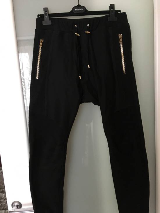 Balmain Slim-fit Taped Cotton- Jersey biker Swetpants Size US 31 - 3