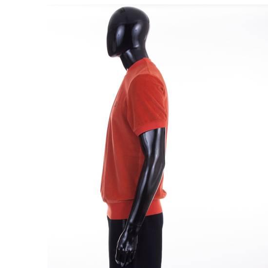 Givenchy Orange Men's Velour Crewneck T-Shirt With 4G Chest Logo Size US M / EU 48-50 / 2 - 2