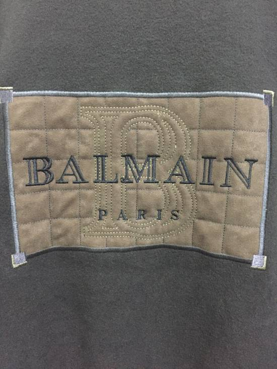 Balmain Vintage 90s BALMAIN PARIS by Pierre Balmain Embroidery big logo 3 Quarters crewneck jumper sweatshirts Size US M / EU 48-50 / 2 - 1
