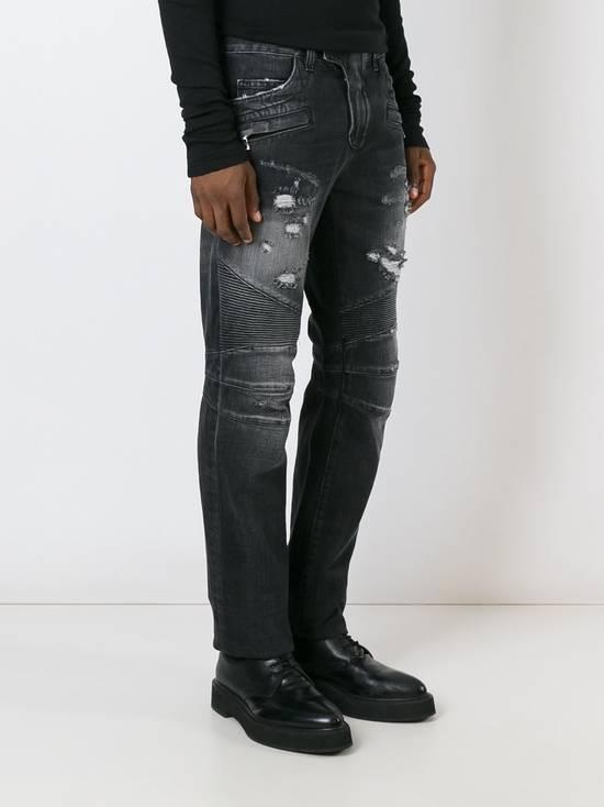 Balmain Black Distressed Biker Jeans Size US 29 - 2