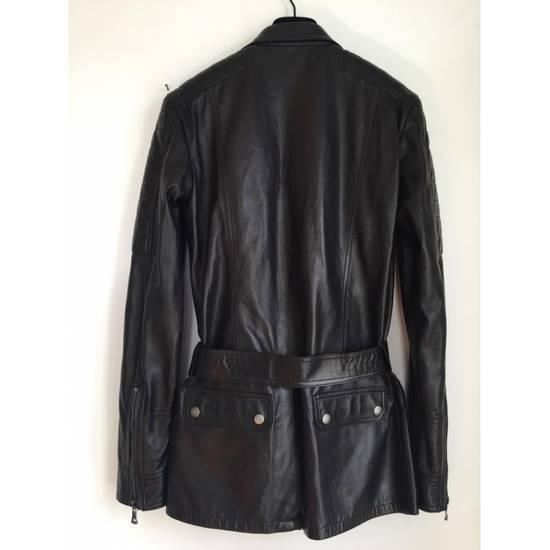 Balmain Balmain Black Leather Quilted Jacket Safari Biker Style SS13 *Very Rare* 48 Size US M / EU 48-50 / 2 - 3
