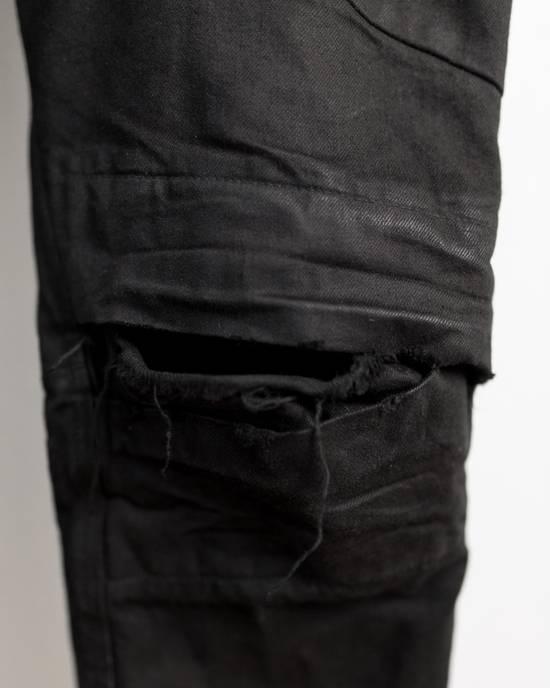 Julius FW17 Neuromantika Distressed Moto Zippe Denim Size US 31 - 5