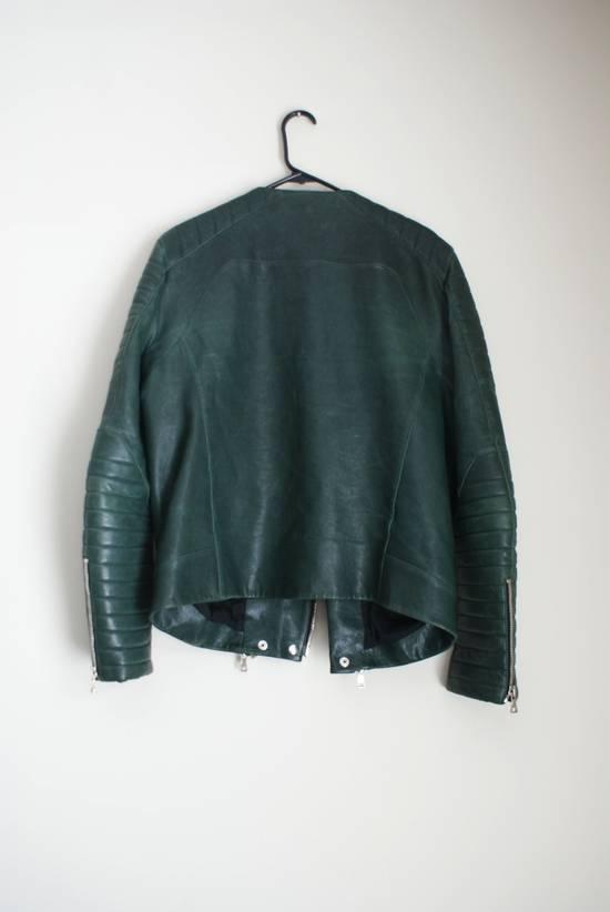 Balmain green leather jacket Size US XL / EU 56 / 4 - 1