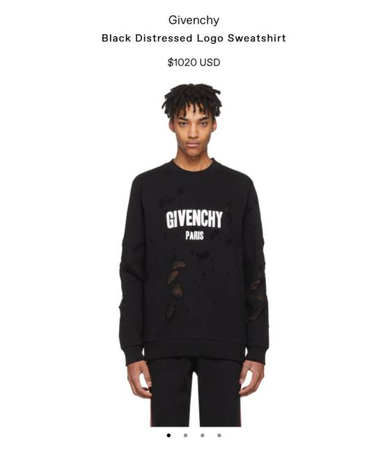 Givenchy Givenchy Distressed Logo Sweatshirt Size US L / EU 52-54 / 3 - 4