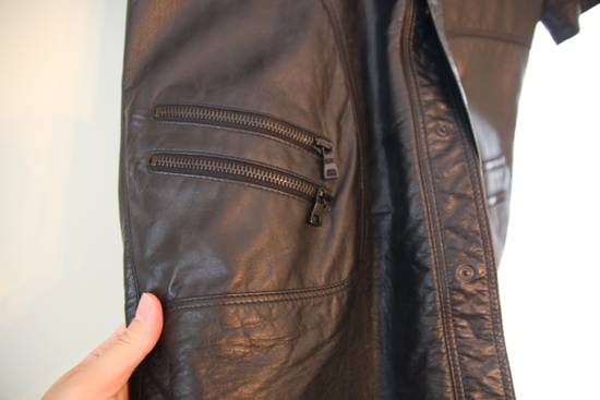 Balmain Balmain mens leather short sleeve shirt in sz 41 Size US M / EU 48-50 / 2 - 4