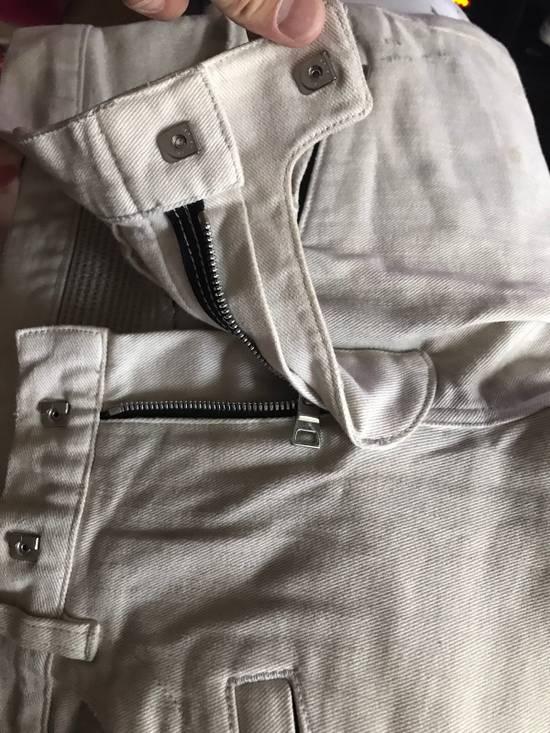 Balmain Balmain Ivory Biker Jeans Size US 30 / EU 46 - 3