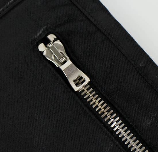 Balmain BNWT Black Waxed Denim Skinny Biker Jeans Size US 30 / EU 46 - 6