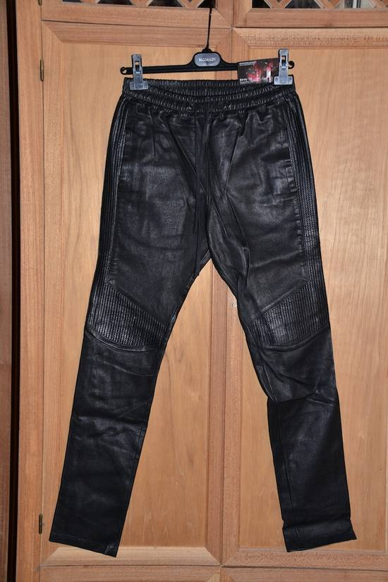 Balmain Leather Track pants Size US 30 / EU 46 - 6
