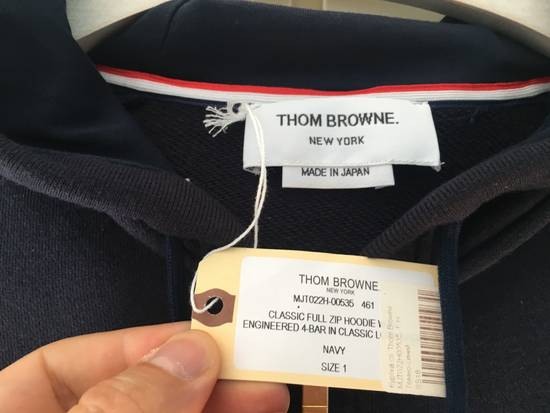 Thom Browne Navy Classic Hoodie w/Engineered 4-Bar Arm Stripe Size US S / EU 44-46 / 1 - 1