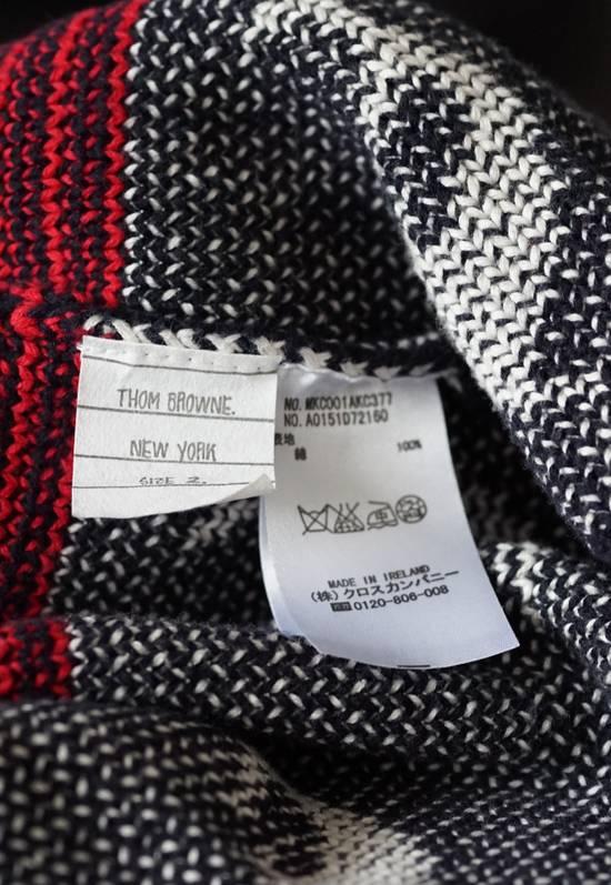 Thom Browne Thom Browne Fair Isle Cotton Cardigan in Navy, Red & White Size US M / EU 48-50 / 2 - 3