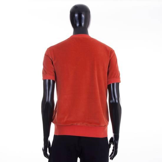 Givenchy Orange Men's Velour Crewneck T-Shirt With 4G Chest Logo Size US M / EU 48-50 / 2 - 3