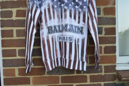 Balmain Flag and Logo Print Sweater Size US L / EU 52-54 / 3 - 5