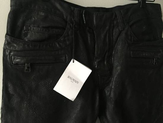 Balmain Balmain leather effect waxed biker Size US 33 - 2