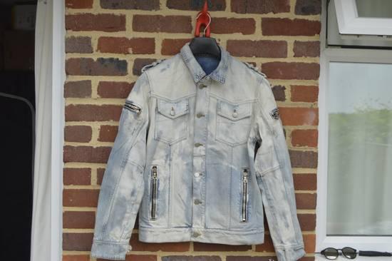 Balmain Light Blue Distressed Denim Jacket Size US S / EU 44-46 / 1