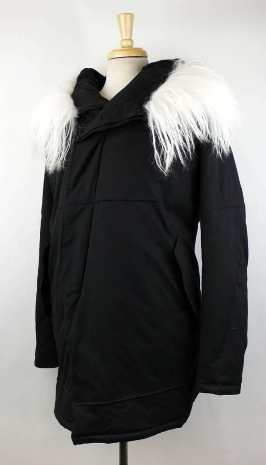Julius Black Cotton Blend Zip-Up Hooded Parka Coat Size 3/M Size US M / EU 48-50 / 2 - 1