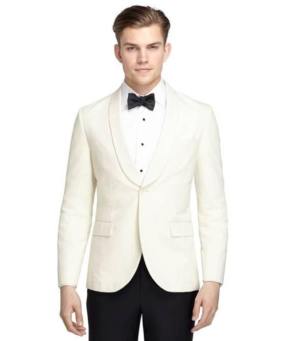 Thom Browne Seersucker Dinner Jacket Blazer Size 42R